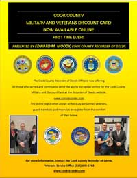 Cook County Recorder-Military and Veterans Discount Card