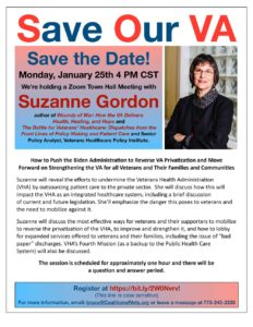 Suzanne Gordon Town Hall Meeting | Save Our VA January 25
