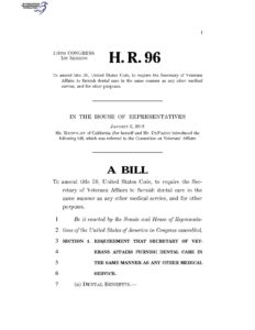 Update to Bill HR 96